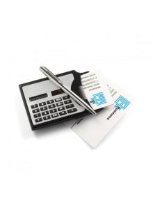 objet publicitaire - promenoch - Calculatrice solaire noire  - Calculatrices