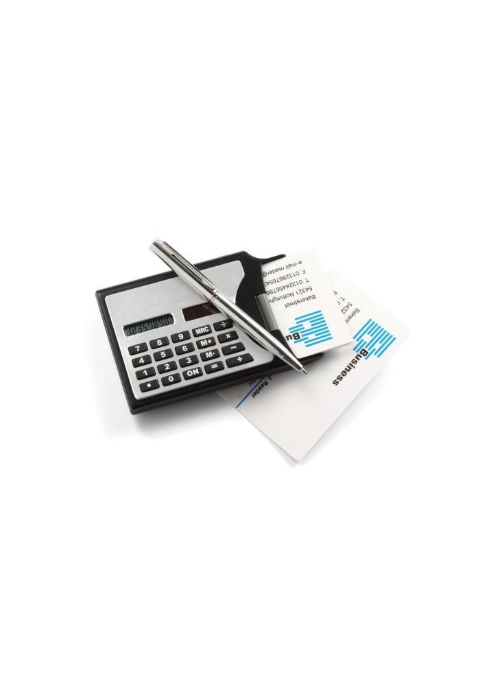Calculatrice solaire noire  publicitaire