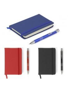 objet publicitaire - promenoch - Parure carnet A6 et stylo  - Carnets et bloc-notes Personnalisés