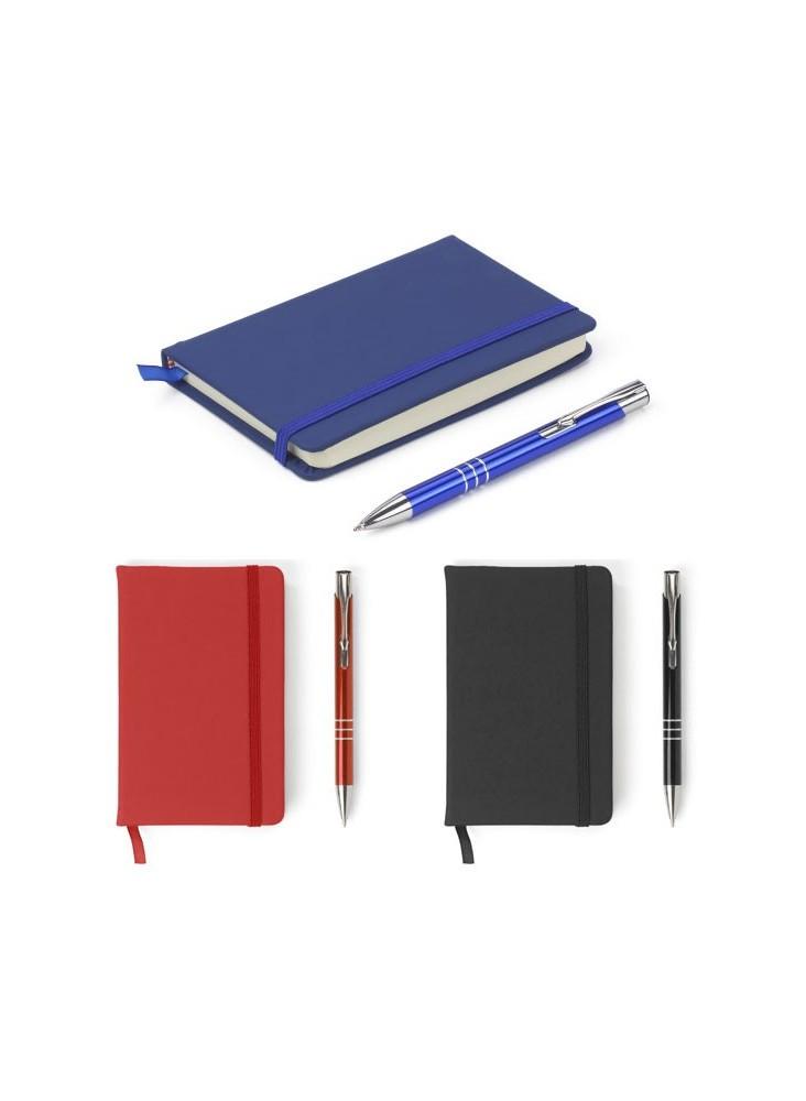 Parure carnet A6 et stylo  publicitaire