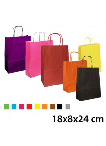 sac kraft publicitaire couleur 18x8x24 cm sac papier kraft personnalis. Black Bedroom Furniture Sets. Home Design Ideas