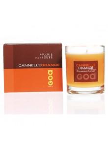 objet publicitaire - promenoch - Bougie Parfumée Cannelle Orange  - Bougie Parfumée