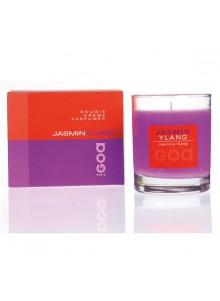 objet publicitaire - promenoch - Bougie Parfumée Jasmin Ylang  - Bougie Parfumée