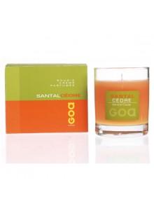 objet publicitaire - promenoch - Bougie Parfumée Santal Cèdre  - Bougie Parfumée