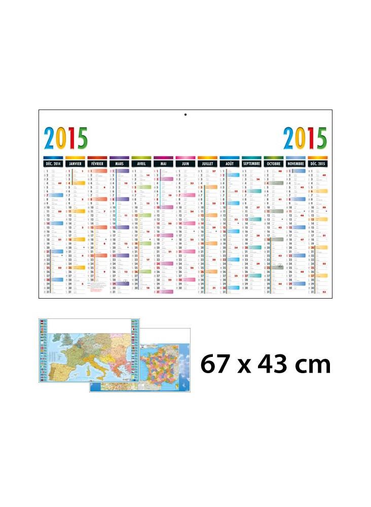 Calendrier Publicitaire 13 Mois / 1 Face 67 x 43 cm