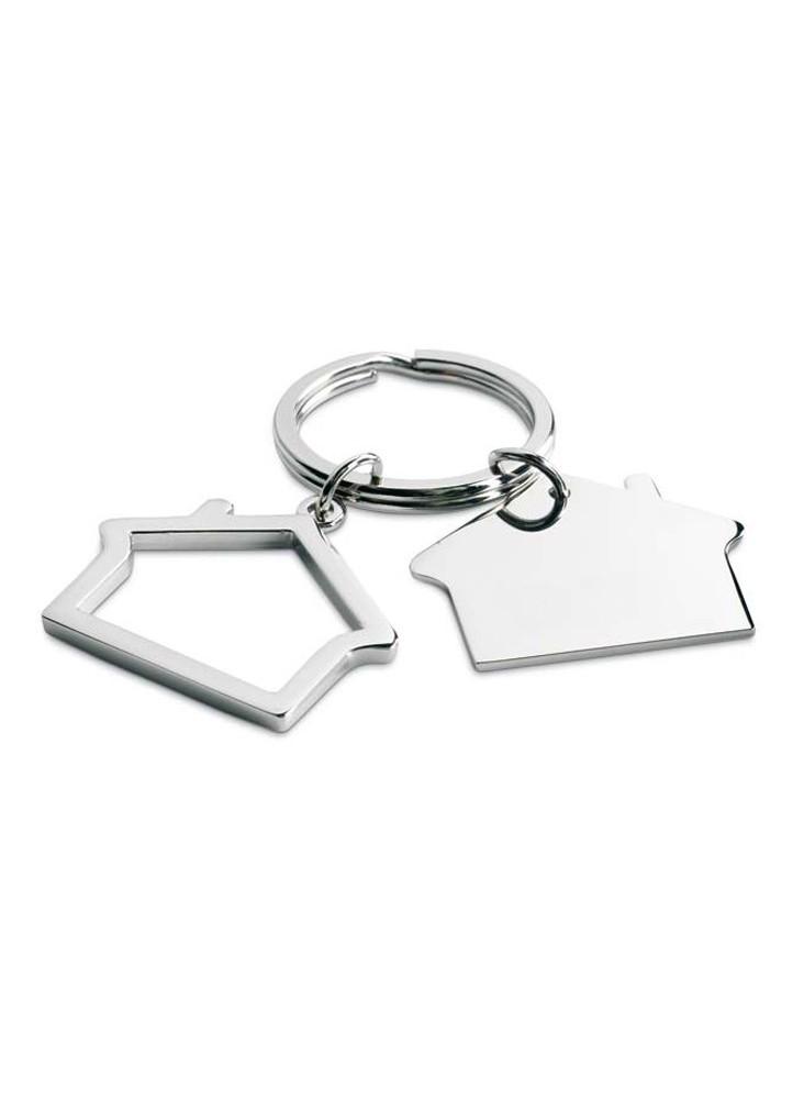 Porte-clés personnalisable en forme de maison  publicitaire