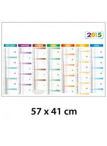 objet publicitaire - promenoch - Calendrier Bancaire 57 x 41 cm  - Calendrier Publicitaire