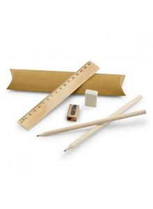 objet publicitaire - promenoch - Crayon + Gomme + Règle  - Crayon Papier & Couleurs