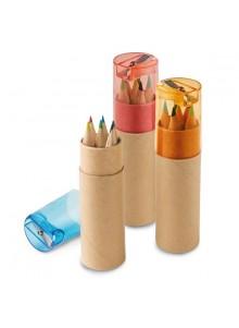 objet publicitaire - promenoch - Boîte 6 Crayons Couleurs  - Crayon Papier & Couleurs