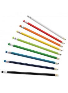 objet publicitaire - promenoch - 12 Crayons Papier Publicitaire  - Crayon Papier & Couleurs