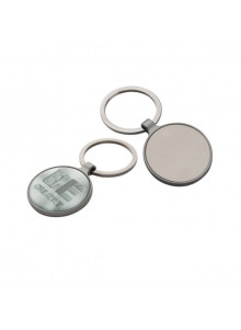 objet publicitaire - promenoch - Porte-clés rond en métal  - Porte-clés Publicitaire