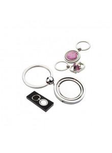 objet publicitaire - promenoch - Porte-clés en métal rond pivotant  - Porte-clés Publicitaire