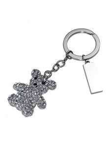objet publicitaire - promenoch - Porte clés ourson avec pierres brillantes  - Porte-clés Publicitaire