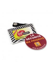 objet publicitaire - promenoch - Badge avec aimant  - Porte-clés Publicitaire