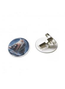 objet publicitaire - promenoch - Badge avec pince épingle au dos  - Porte-clés Publicitaire