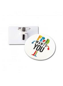 objet publicitaire - promenoch - Badge avec pince-épingle métal  - Porte-clés Publicitaire