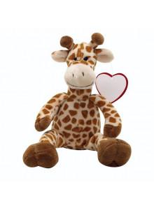 objet publicitaire - promenoch - Peluche Girafe  - Peluche Personnalisée
