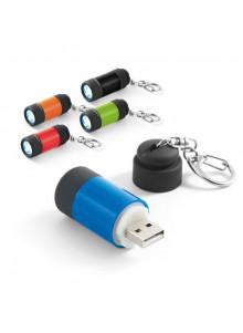 objet publicitaire - promenoch - Porte-clés Lampe Led Rechargeable  - Porte-clés Publicitaire