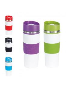 objet publicitaire - promenoch - Mug Thermos 400ml Color  - Mug Thermos Personnalisé
