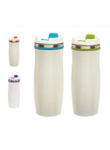 objet publicitaire - promenoch - Mug Thermos 400ml  - Mug Thermos Personnalisé