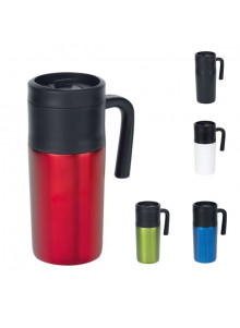 objet publicitaire - promenoch - Mug Thermos Go 330ml  - Mug Thermos Personnalisé