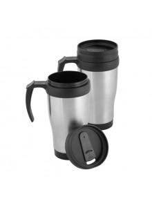 objet publicitaire - promenoch - Mug Thermos 450ml  - Mug Thermos Personnalisé