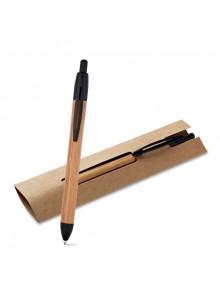 objet publicitaire - promenoch - Stylo Bille Bambou II  - Parure Stylo Coffret