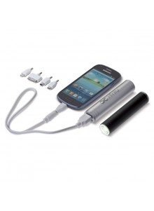 objet publicitaire - promenoch - Power Bank 2000 mAh + Torche LED  - Power Bank