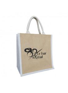 objet publicitaire - promenoch - Sac Jute Naturelle  - Sac Shopping & Course