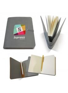 objet publicitaire - promenoch - Carnet de Notes Gris  - Carnets et bloc-notes Personnalisés