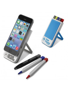 objet publicitaire - promenoch - Support Smartphone + Stylos  - Accessoires Smartphone