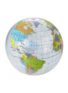 objet publicitaire - promenoch - Ballon Globe Terrestre  - Ballons plage gonflables