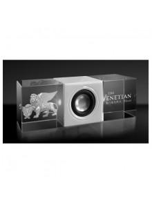objet publicitaire - promenoch - Haut-parleur Rétroéclairage LED + Gravure  - Cristal - Verre lumineux