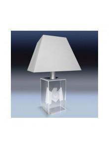 objet publicitaire - promenoch - Lampe Socle Verre + Gravure  - Cristal - Verre lumineux