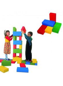 objet publicitaire - promenoch - Jeu de 32 briques Géantes  - Crèche collectivité petite enfance