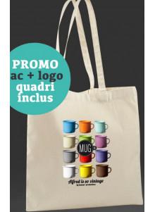 objet publicitaire - promenoch - Sac shopping/tote bag en quadri  - Accueil