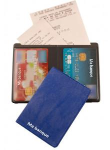 objet publicitaire - promenoch - Etui carte avec poche facturette  - Accessoires Auto