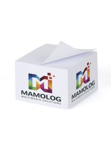 objet publicitaire - promenoch - Bloc cube de 500 feuilles blanches   - Bureautique