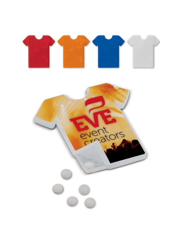 Distributeur de bonbons tee-shirt  publicitaire