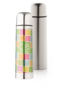 objet publicitaire - promenoch - Bouteille thermos Robusta personnalisable   - Accueil