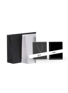 objet publicitaire - promenoch - Sac kraft noir/gris mat  - Accueil