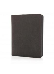 objet publicitaire - promenoch - Carnet de notes batterie de secours 3000mAh, noir  - Accueil
