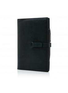 objet publicitaire - promenoch - Set carnet A5, noir  - Accueil