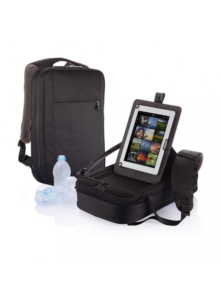 objet publicitaire - promenoch - Sac à dos pour ordinateur portable B-Axis, noir/gris  - Accueil