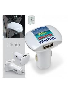 objet publicitaire - promenoch - Chargeur de voiture double USB DUO  - Accueil