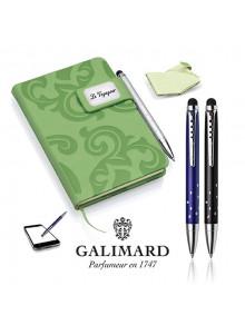 objet publicitaire - promenoch - Set bloc-notes GRACE vert/stylo à bille touch STAR de GALIMARD  - Accueil