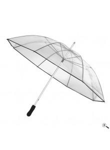 objet publicitaire - promenoch - Grand Parapluie Transparent Publicitaire  - Accueil