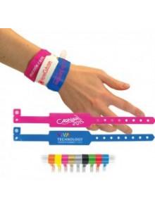 objet publicitaire - promenoch - Bracelet d'Identification et évènementiels en vinyl 250x32 mm personnalisables  - Accueil