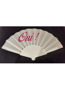 objet publicitaire - promenoch - Eventail en plastique et tissu publicitaire  - Éventail Publicitaire