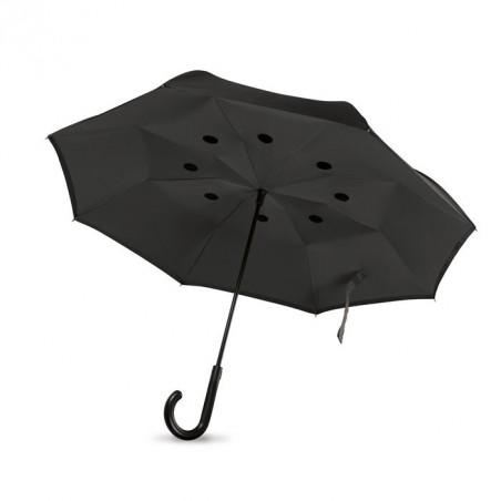 Parapluie personnalisable à fermeture réversible